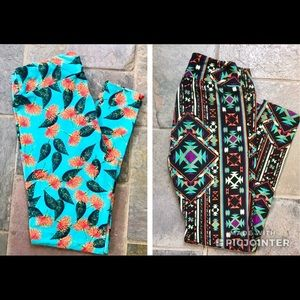 lularoe leggings os tc // 2 pairs